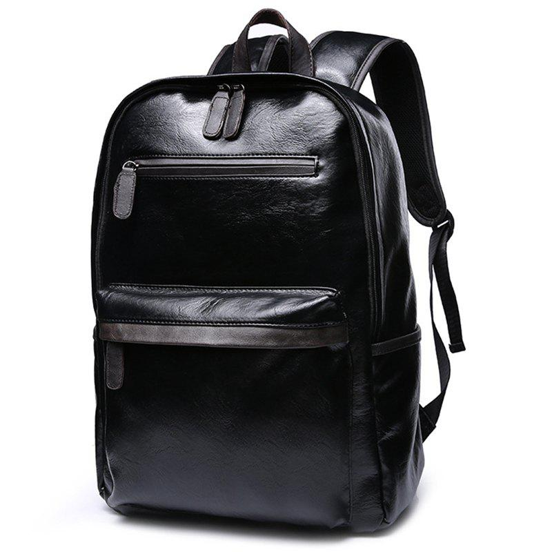 Shop Casual Backpack Men's Student Leather Fashion Trend Sports Travel Computer Bag