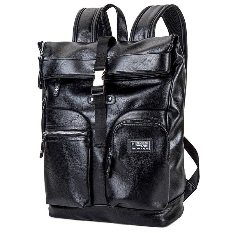 Hot Backpack Men's Multi-function PU Leather Computer Spring Multi-layer Travel Bag