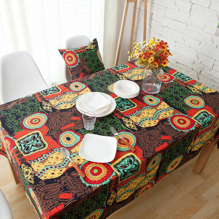 Latest Bohemian Mediterranean Linen Party Meal Cotton Table Cloth