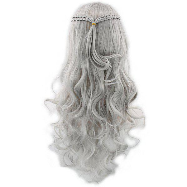 Discount Braided Long Curly Hair Cosplay Wig