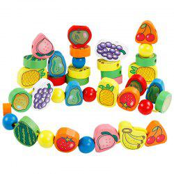 Beautiful Wooden Baby Fruit String Rope -