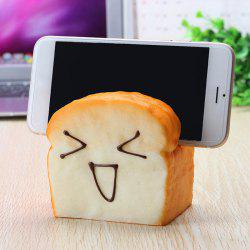Jumbo Squishy 7 Seconds Slow Raising Slice Toast Joy Happy Faces Seat Cell Phone Holder -