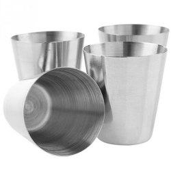 17 - ZZLJ9714 Outdoor Portable Stainless Steel Wine Glass with Cup Cover -