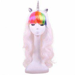 Rainbow Unicorn Wig Cosplay Anime Decoration Gift -
