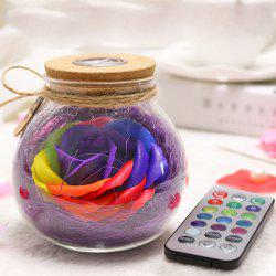 Creative Products Practical Eternal Flowers Soap Roses Wishing Bottles for Birthday Valentine Day Gifts -