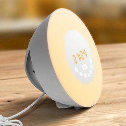 Natural Wake-up Light LED Multi-function Touch Colorful Alarm Clock -