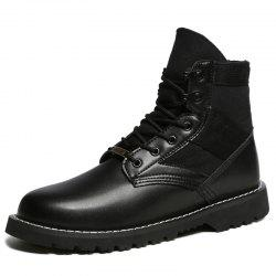 Men Outdoor Comfortable Lace-up Wearable High-top Boots -