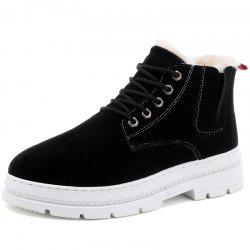 H666 Autumn Winter New Cotton Boots Plus Men's Boots -