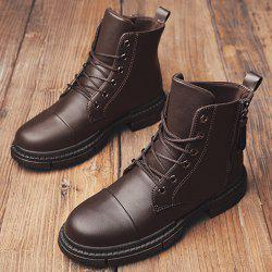 Men Stylish Warmth Wear-resistant High-top Boots -