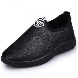 1605 Leather Women's Lok Fu Cotton Shoes -