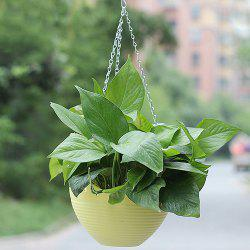 Small Yellow Balcony Potted Resin Hanging Flowerpot -