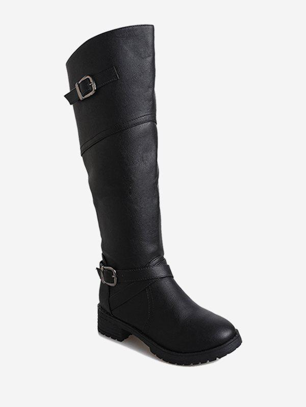 Best Double Buckle Knee High Boots