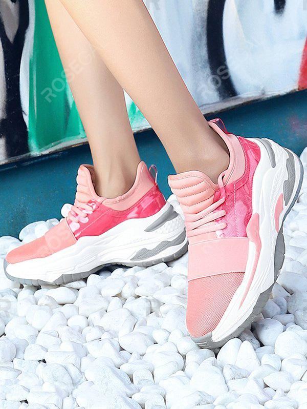 New Breathable Platform Athletic Sneakers