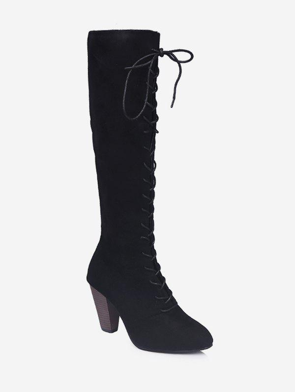 Outfit High Heel Lacing Knee High Boots