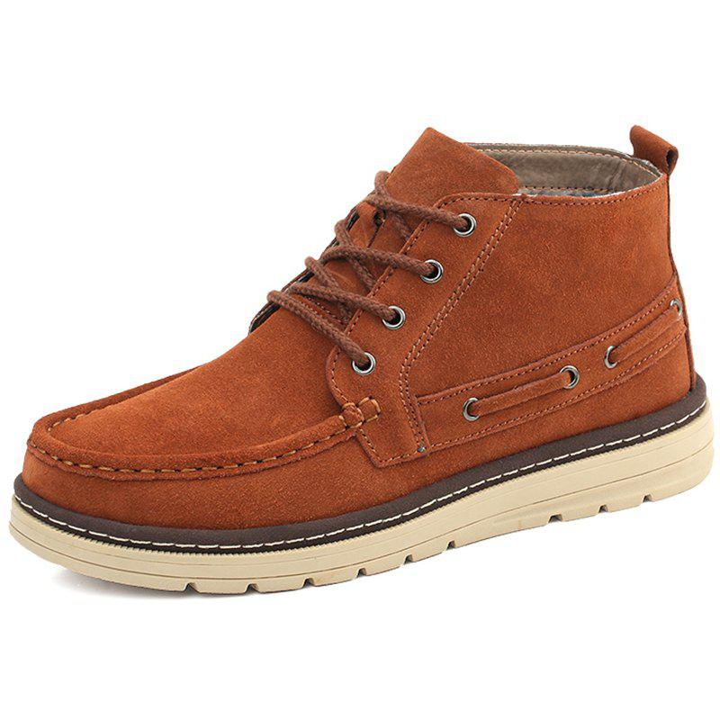 Affordable High-top Outdoor Work Boots Suede Upper for Men