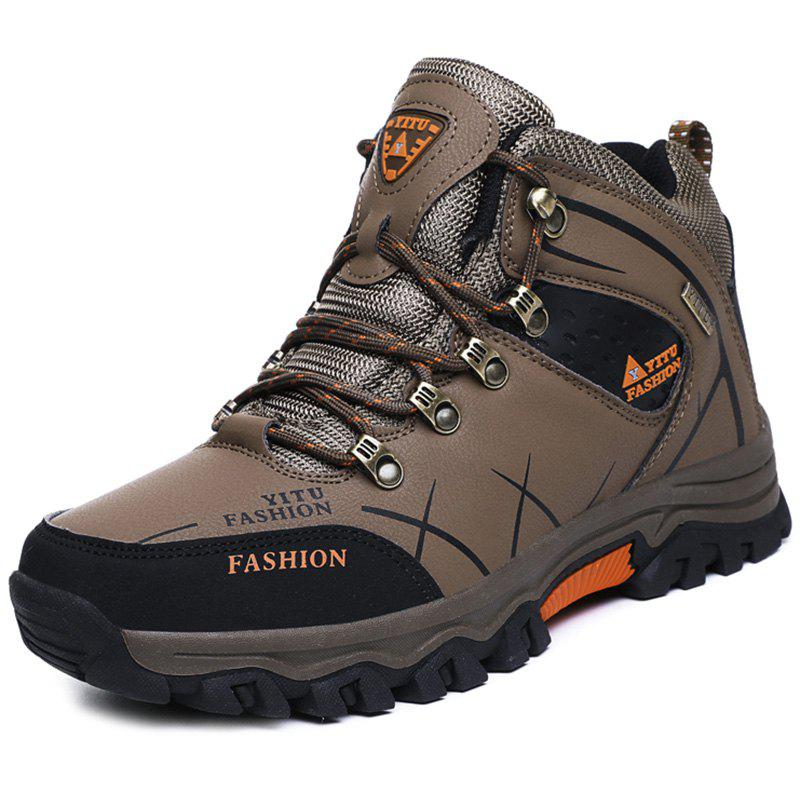 Store High-top Plush Hiking Shoes Sneakers for Men