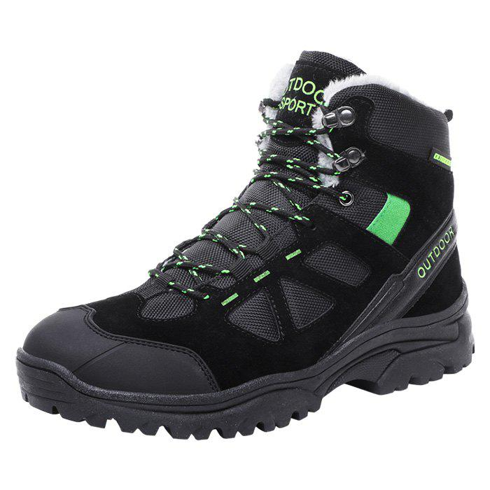 Fashion Men Wearable Plus Down High-top Outdoor Hiking Boots