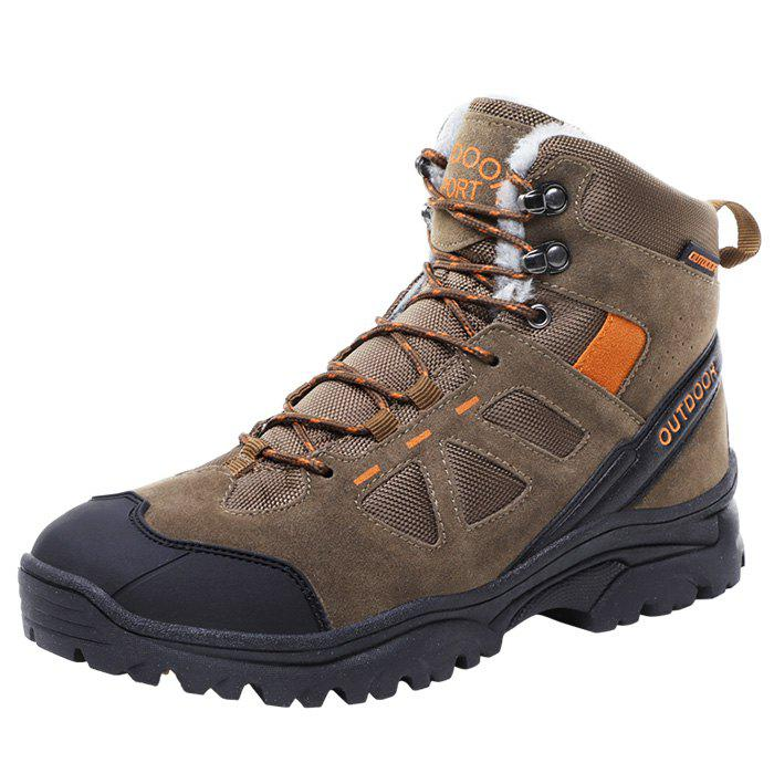 Best Men Wearable Plus Down High-top Outdoor Hiking Boots