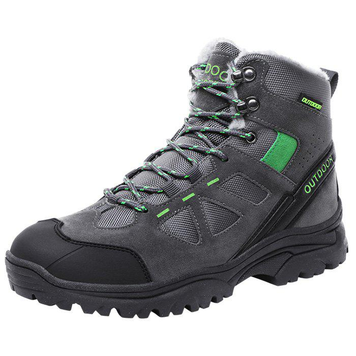 Unique Men Wearable Plus Down High-top Outdoor Hiking Boots