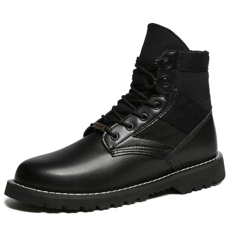 Cheap Men Outdoor Comfortable Lace-up Wearable High-top Boots
