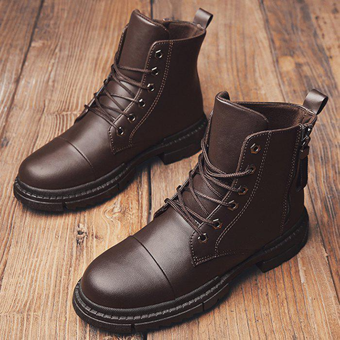 New Men Stylish Warmth Wear-resistant High-top Boots