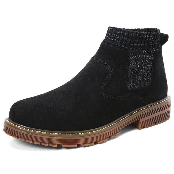 Shop Men Fashionable All-match Sock High-top Boots