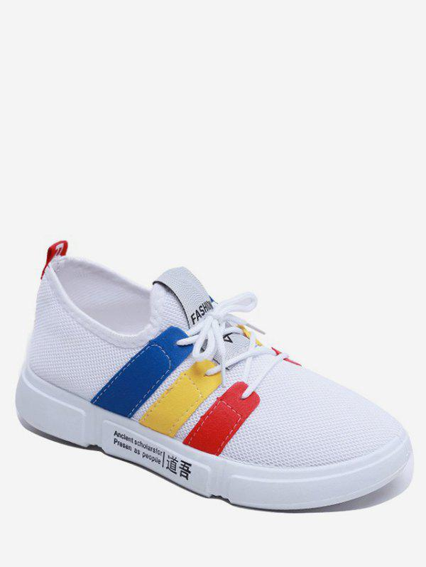 Store Color Block Striped Casual Flat Sneakers