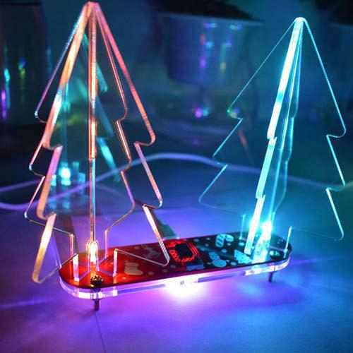 DIY Acrylic 3D Christmas Tree Kit Full Color Changing LED Night Light