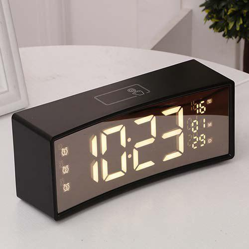 Buy 3D Curved Surface Screen Mirror Suspension Sense Font Smart Electronic Alarm Clock