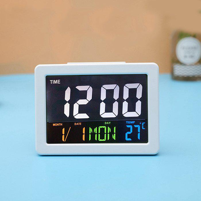 Fancy Color Large Screen LCD Electronic Clock