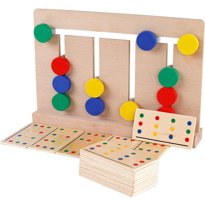 2019 Four Color Game Puzzle Early Education Toys Infant Baby Wooden