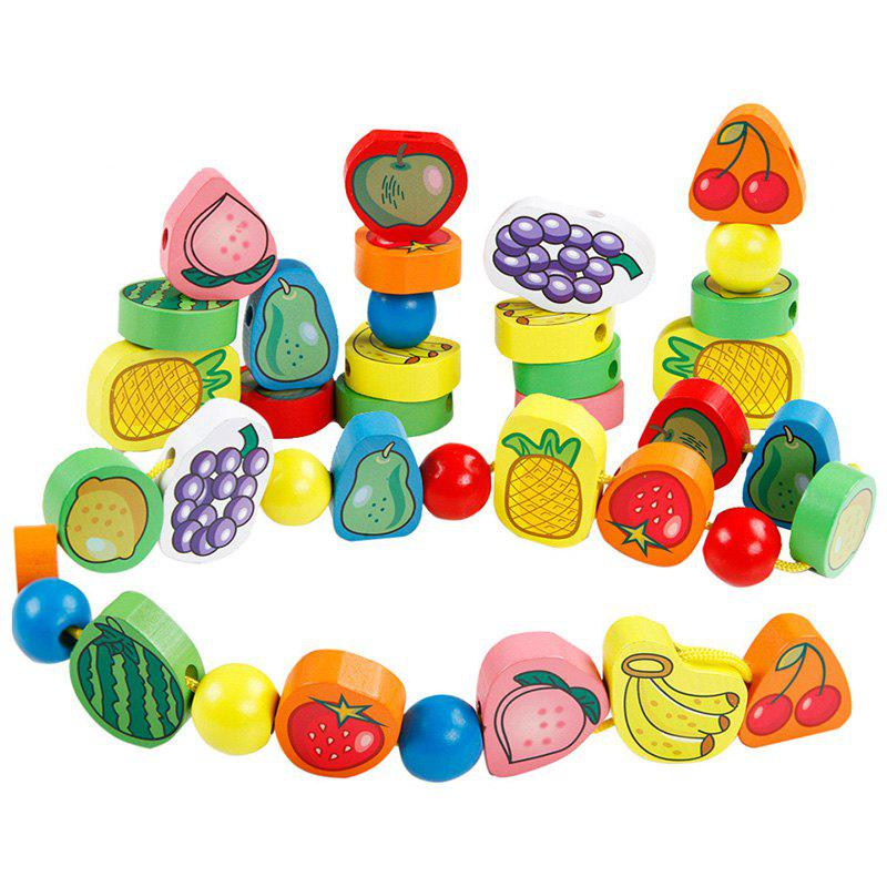 Outfits Beautiful Wooden Baby Fruit String Rope