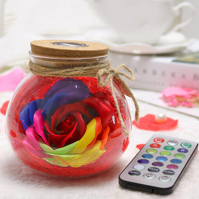 New Creative Products Practical Eternal Flowers Soap Roses Wishing Bottles for Birthday Valentine Day Gifts