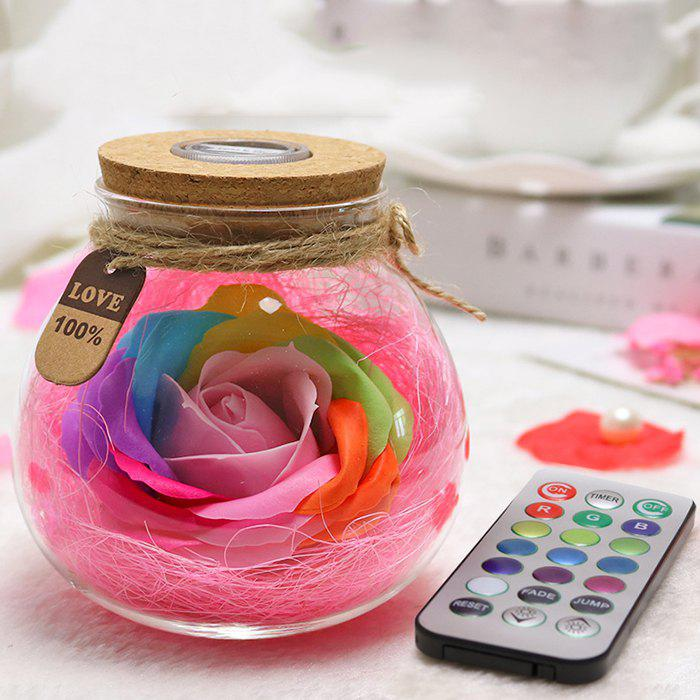 Fashion Creative Products Practical Eternal Flowers Soap Roses Wishing Bottles for Birthday Valentine Day Gifts