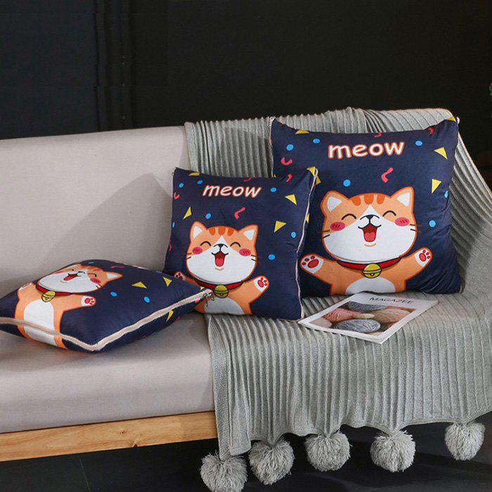 Unique Crystal Soft Cartoon Printing Dual-use Multi-function Office Car Pillow Quilt