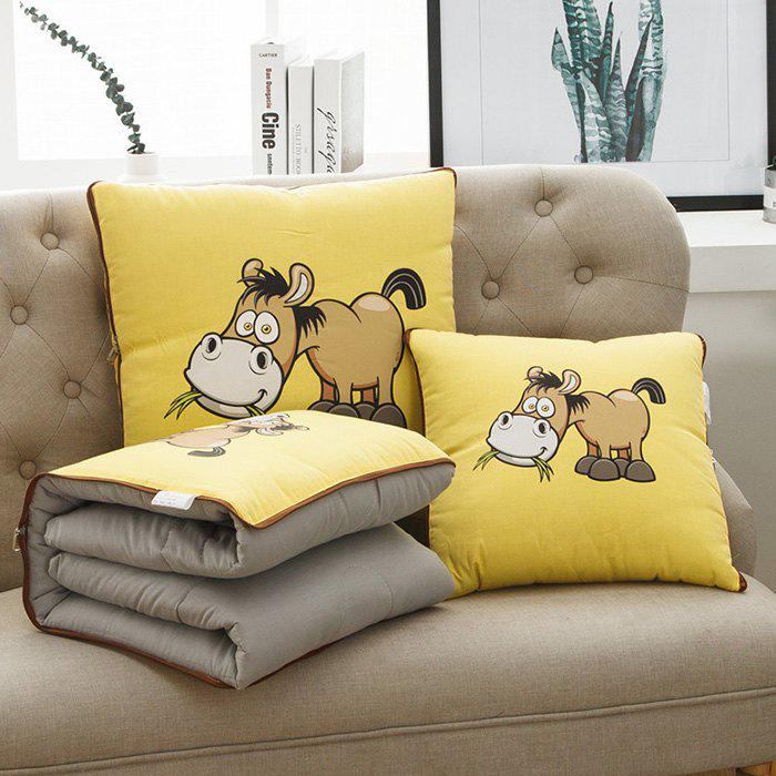 Store Cotton Print Cartoon Dual-use Office Car Cushions Pillow Cover