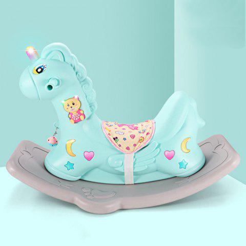 Rocking Horse Dual-use Scooter Toy with Music Learning Toy for Baby