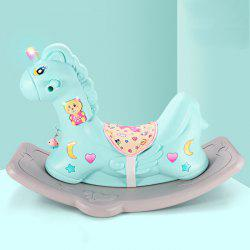 Rocking Horse Dual-use Scooter Toy with Music Learning Toy for Baby -