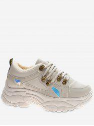 Holographic Detail Platform Sneakers -