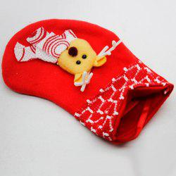 9 - K1322 L40.4.24 Flannel Cute Little Christmas Stocking -