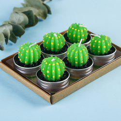 Plant Decoration Smokeless Creative Craft Candles 6pcs -