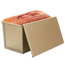 Rectangular Non-stick Corrugated with Lid Toast Bread Mold Oven Baking Tool -