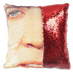 Expression Pillowcase Face DIY Pillow Sequin without Pillow Inner -