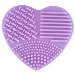 Silicone Heart-shaped Wash Pad Beauty Cleaning Makeup Tool -