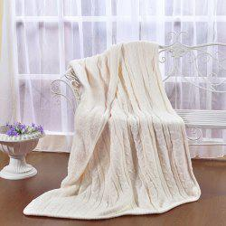 Knitted Lambskin Composite Warm Padded Lunch Break Office Blanket -
