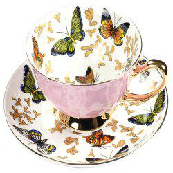 Coffee Cup And Saucer Set Color Porcelain Butterfly Bone Afternoon Teacup -