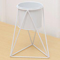 Triangle Art Plant Iron Pot with Holder -