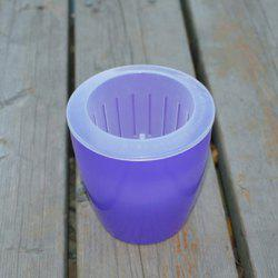 M7 Purple Creative Environmentally Friendly Resin Green Plant Pot -