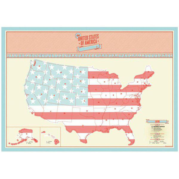 Discount USA Travel Life Portable Creative Travel Poster Scratch Map