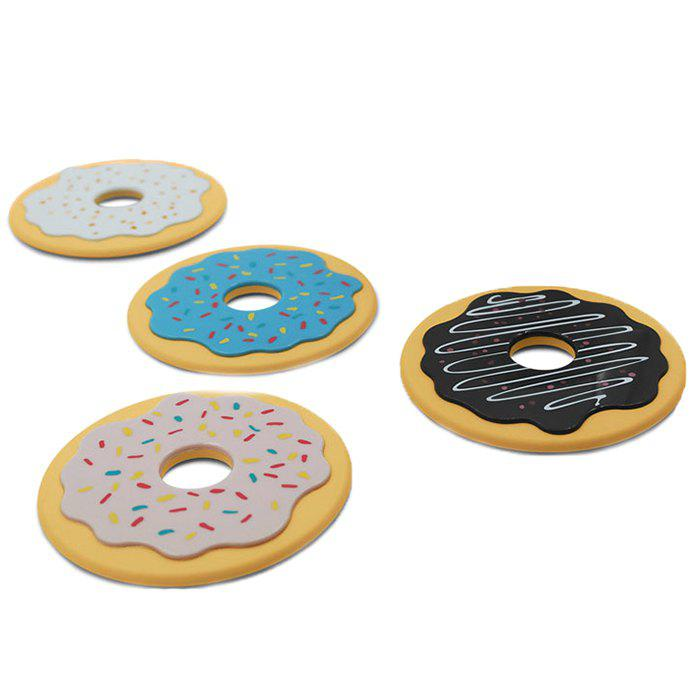 Мультфильм Donut Cookie Anti-slip Mat 4pcs